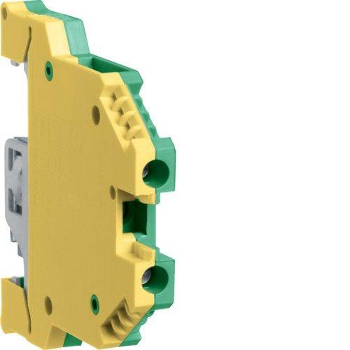 Клемма защитная (53,5 х 8 х 48 мм,1.5-6 мм2,41 А)Hager KXB06E