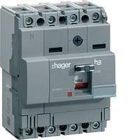 Корпусный автоматический выключатель (4p, 100А, x160) Hager HDA101L