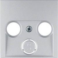 Накладка для антенной розетки 2/3 отверстия алюминий Berker B.3/B.7 12031404