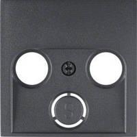 Накладка для антенной розетки 2/3 отверстия антрацит Berker B.3/B.7 12031606
