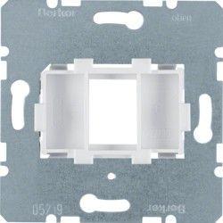 Опорная пластина для модульных разъемов с белой вставкой 1-кратная Berker 454002