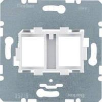 Опорная пластина для модульных разъемов с белой вставкой 2-кратная Berker 454105