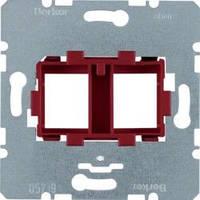 Опорная пластина для модульных разъемов с красной вставкой 2-кратная Berker 454101