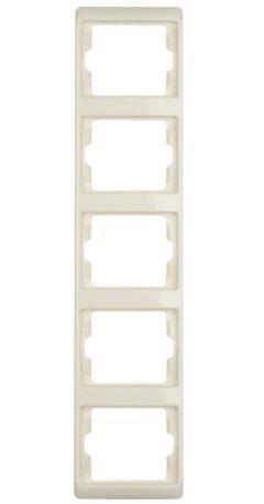 Рамка 5-ная белый вертикальная Berker ARSYS 13530002