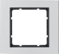 Рамка алюминий/антрацит 1-ная Berker B.3 10113004