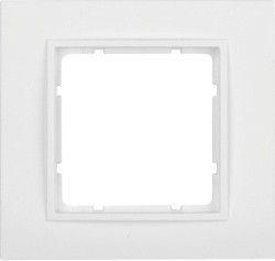 Рамка пластиковая полярная белизна 1-ная Berker B.7 10116919