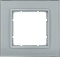 Рамка стеклянная алюминий 1-ная Berker B.7 10116414
