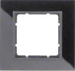 Рамка стеклянная черная 1-ная Berker B.7 10116616