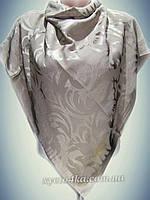 Шелковый платок Афродита кофе с молоком