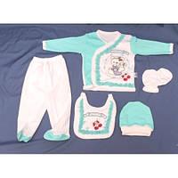 Набор для новорожденного 5 в 1 «Мишка» зеленый