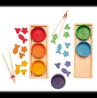 Сортер Grimms Разноцветные чаши с прищепками