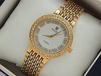 Женские кварцевые наручные часы Rolex на металлическом ремешке со стразами, фото 1