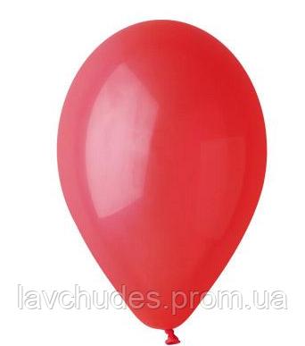 Воздушные шары. Без рисунка. Красный