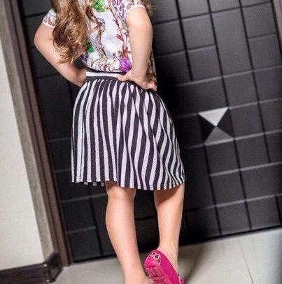 детская полосатая юбка