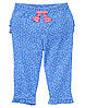 Летние трикотажные брючки для девочки. 12-18 месяцев