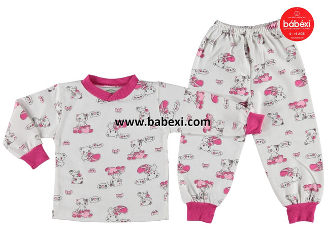 Пижама Mini poly малиновая на девочку 1-4 года
