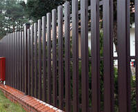 Забор штакетный из металла Премиум 2000х2000 мм