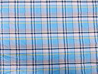 Рубашка Турция Клетка (голубой с синей полосой) (арт. 12177) отрез 1,3 м