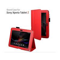 Красный чехол на Sony Xperia Tablet Z из синтетической кожи.