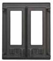 0114 Дверца каминно-печи двухстворчатая со стеклом (340х400)