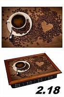 Поднос-картина на подушке Кофе