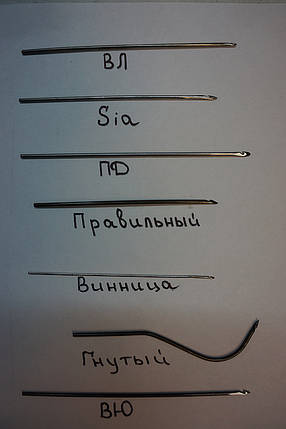 Крючек прошивной (для прошивки подошвы обуви) СІА 0,8мм., 1мм., 1,2мм., 1,4, 1,6мм., 1,8мм., 2,0 мм., фото 2