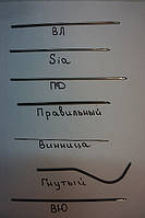 """Крючек прошивной """"ПРАВИЛЬНЫЙ"""" 0,8мм - 2,0 мм."""