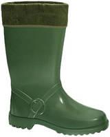 Резиновые сапоги женские утепленные horse 895-зеленые, размер- 41 Lemigo