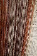Нити радужные с люриксовой нитью Дождик Дождик коричневый+венге