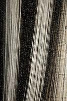Нити радужные с люриксовой нитью Дождик Дождик чёрный