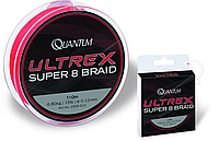 Quantum Шнур Ultrex Super 8 Braid 110m Quantum (0,14mm Ultrex Super 8 Braid 110m 9,10kg)