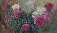 Красивая картина для гостинной «Пионы» (купить картину цветы)