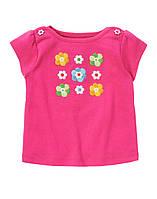 Детская летняя футболка для девочки  6-12, 12-18 месяцев, 2 года