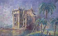 Картина пейзаж маслом «Мираж» (большая, интерьерная картина)