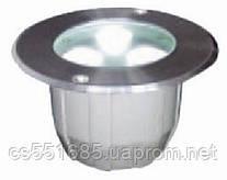 10_3x3W_12VDC_RGB_IP67 (104х103мм) серия GROUND LED - Светильники садово-парковые светодиодные DELUX (Делюкс)