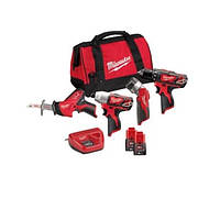 Набор аккумуляторных инструментов, 12В powerpack m12bpp4a-202 Milwaukee