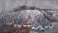 Картина «Зимний Киев» купить картину зимнего пейзажа (пейзажи маслом природа)