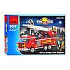 Конструктор Пожарная машина с выдвижной лестницей BRICK 904