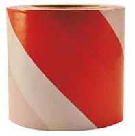 Лента оградительная 100м х 80 мм бело - красная