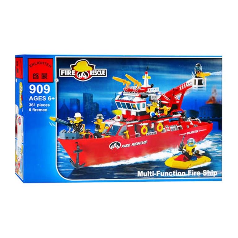 Конструктор Многофункциональный пожарно-спасательный корабль 909 BRICK