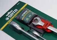Ключи плоско-кольцевые Sata, с двойной трещоткой набор 3 шт. / 10, 13, 17 мм