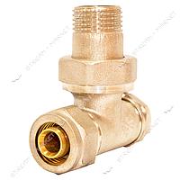N0165.6 Кр. радиаторный углов. п/ключ (низ) 1/2' -16' В 7104