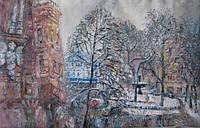 Картина «Зимний пейзаж Киева».