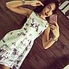 Платье женское короткое из жаккарда с бабочками P1285