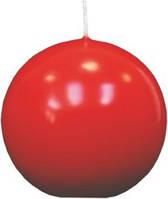 Свеча шар красная парафиновая