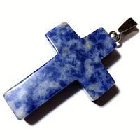 Крестик лазурит серебро
