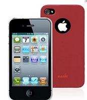 Накладка MOSHI IGLAZE 4 CRANBERRY RED FOR IPHONE 4/4S (99MO036321)(+пленка)ориг