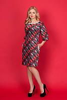Женское платье прямого покроя с рукавом- реглан