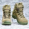 Ботинки нубук олива