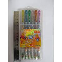 Набір гелевих ручок в пластиковій упаковці 12 кольорів Вінні Пух з блискітками JO HY-001-12